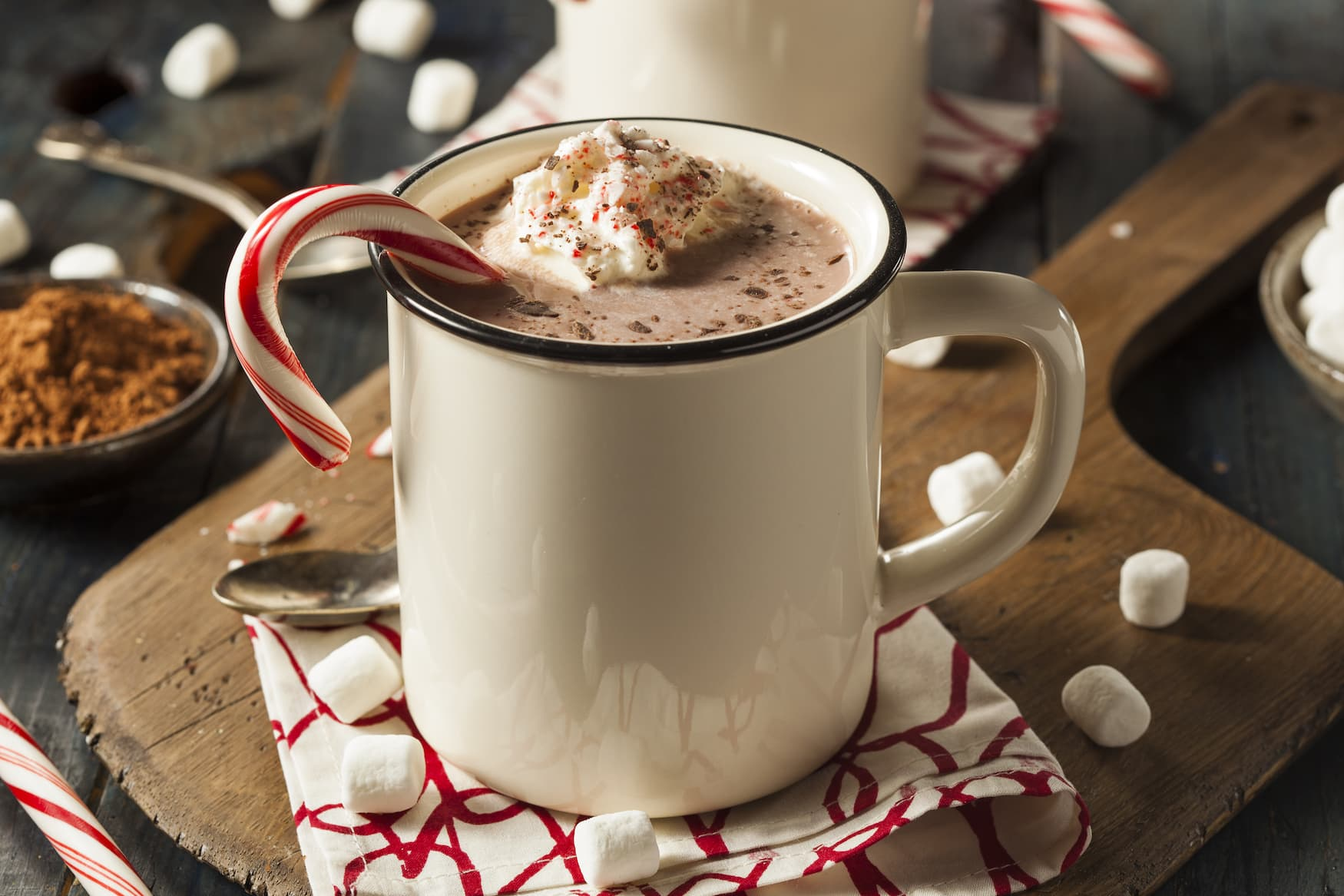 Boozy Hot Mint Chocolate in Grossbritannien an Weihnachten