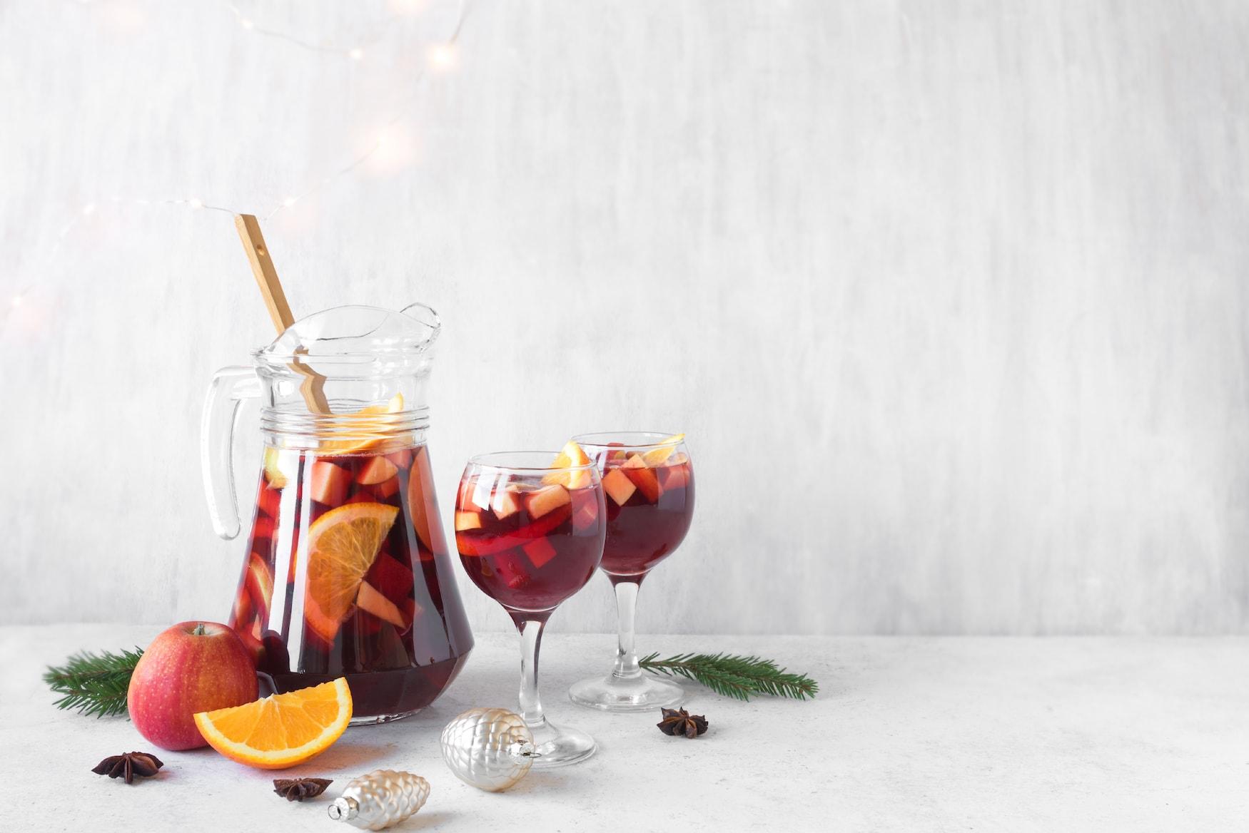 Hot Sangria - Drink in Spanien an Weihnachten