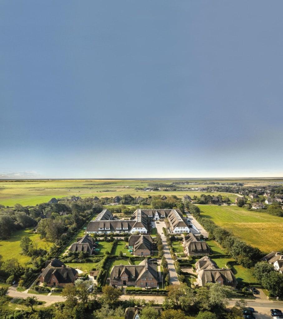 Vogelperspektive Severins Resort & Spa Sylt