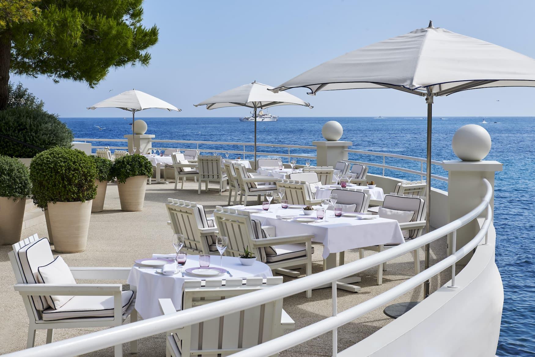 Terrasse des Biorestaurants Elsa in Monaco
