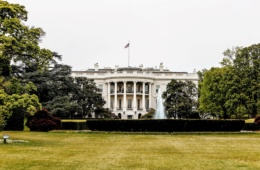 Blick auf das Weiße Haus in Washington DC