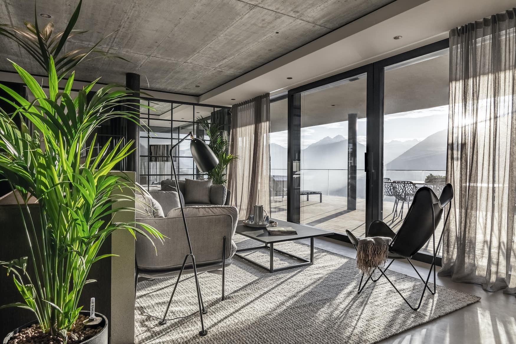 Schönes Interior im Apartment 7 in Südtirol