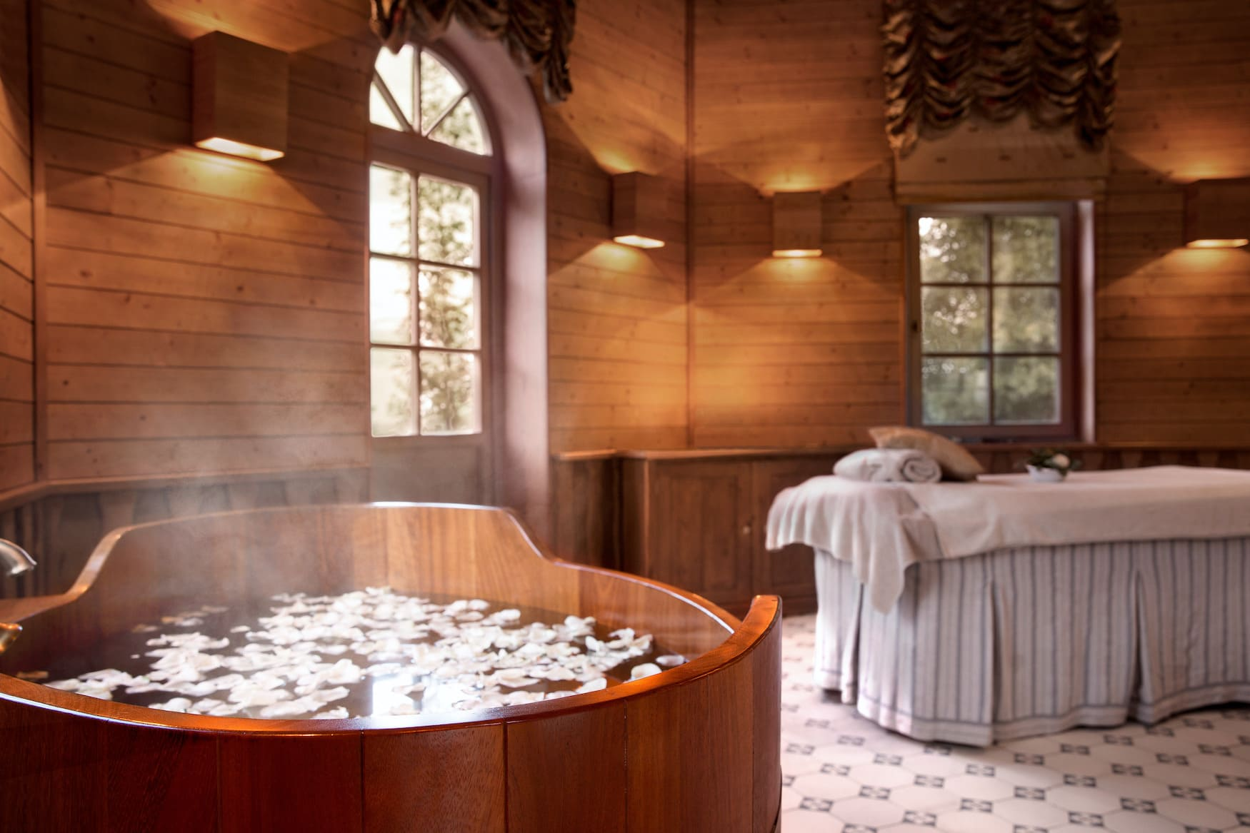 Spa-Bereich im Chateau Mcely