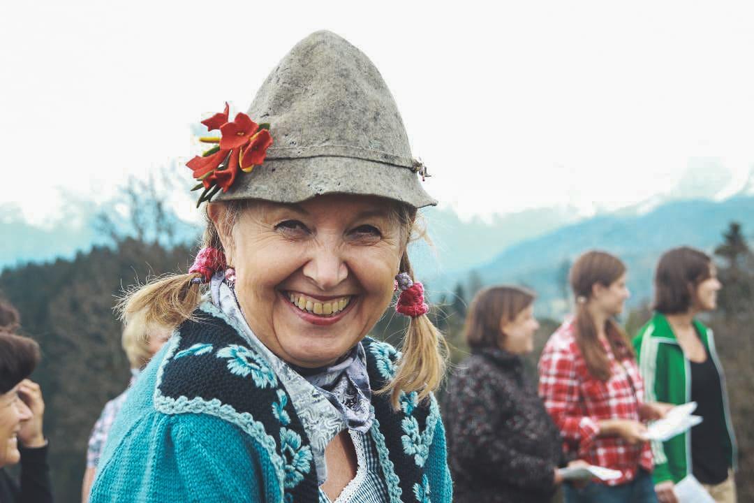 Teilnehmerin eines Jodelseminars