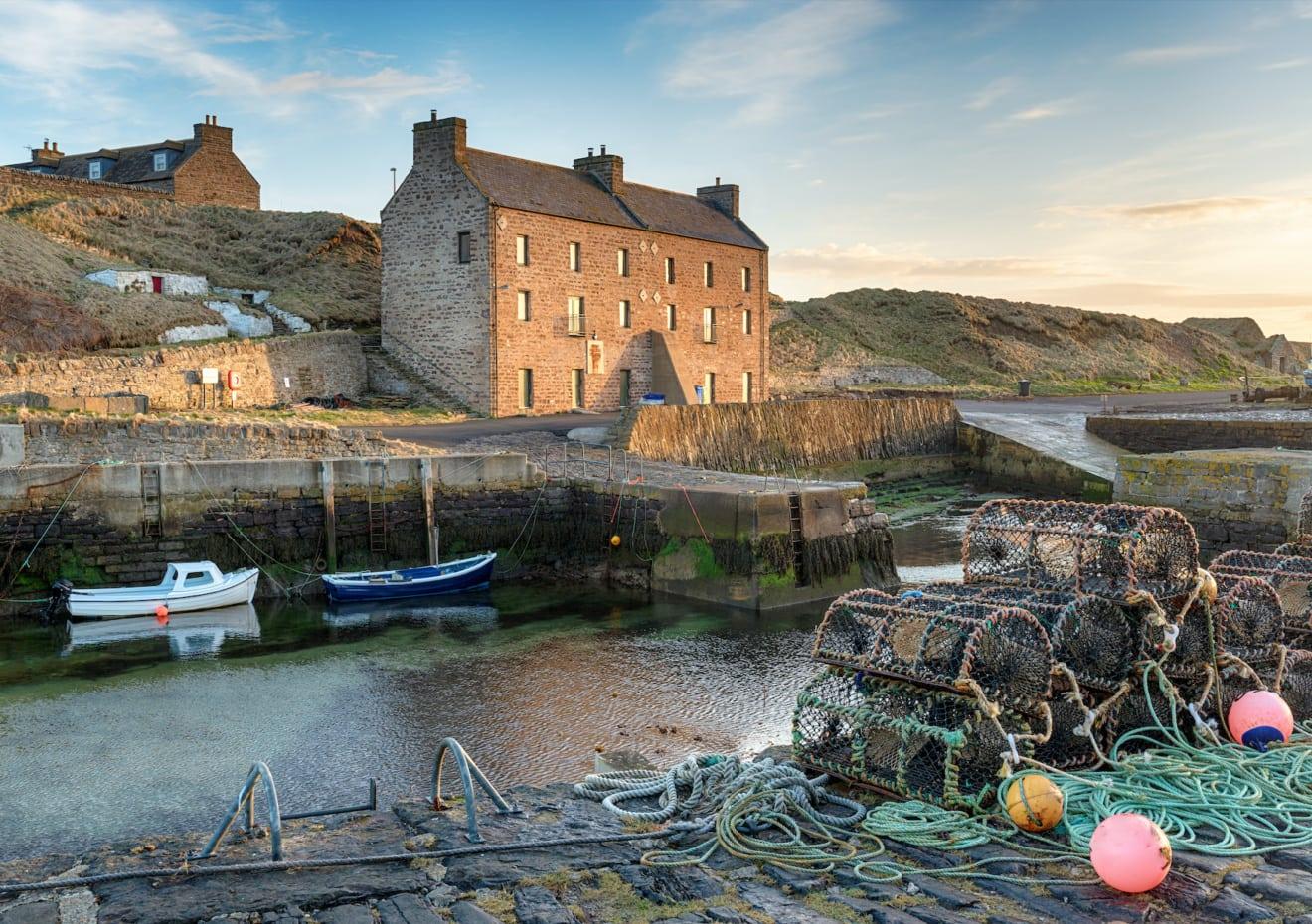 Keiss Harbour - Hafen in Schottland aus der Serie The Crown