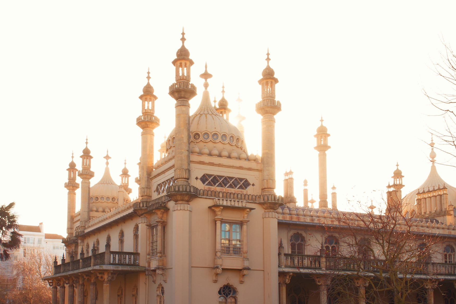 The Royal Pavilion in Brighton bei Abendlicht