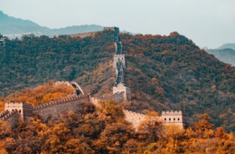 Chinesische Mauer im Herbst