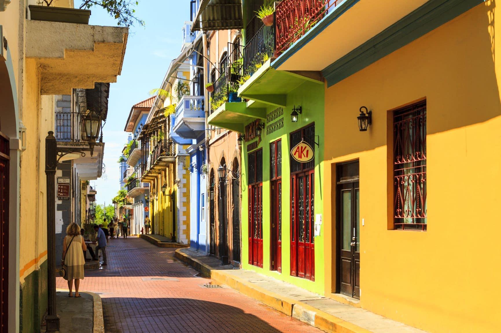 Renovierte Häuser in der Altstadt von Panama-Stadt