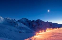 Winter im Oberengadin: Diavolezza-Aussicht