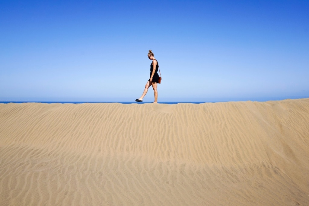 Die Dünen von Maspalomas im Süden von Gran Canaria.