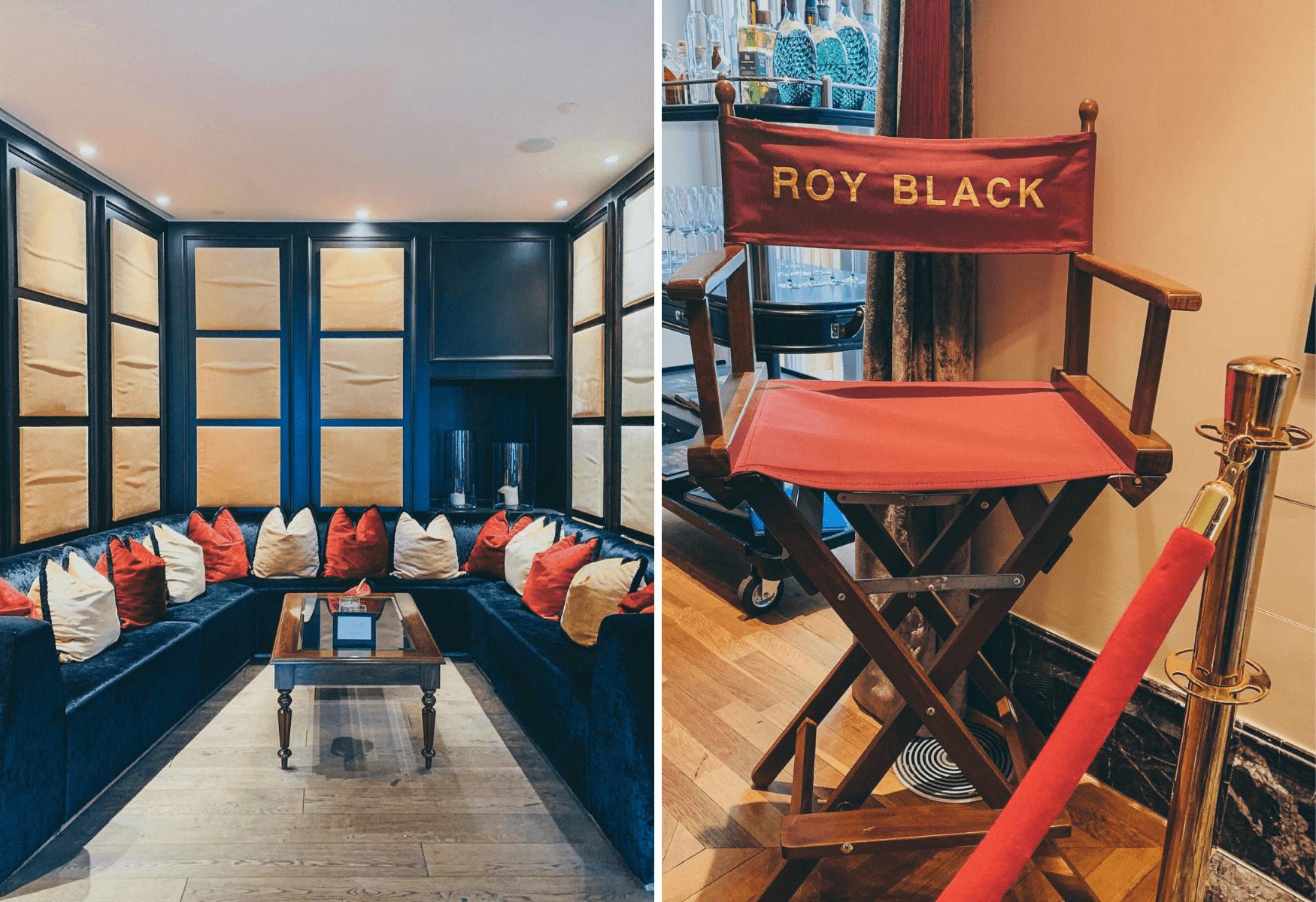 Stuhl mit dem Namen von Roy Black