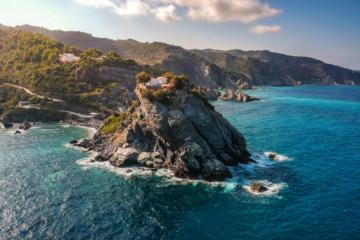 Drehort des Reisefilms Mamma Mia auf einer griechischem Insel