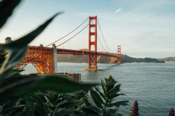 Blick auf die Golden gate Bridge in Kalifornien