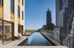 Rooftop Pool im Aman New York