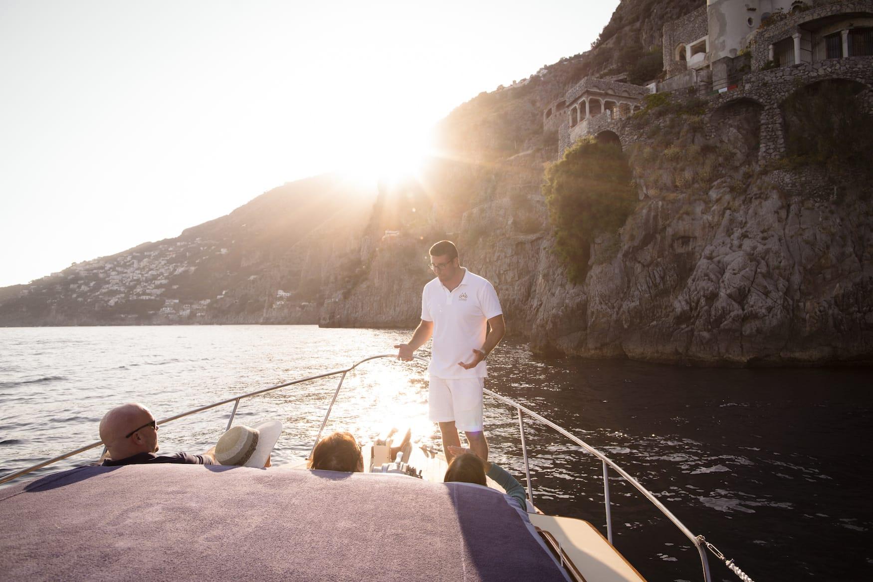 Bootstour entlang der Küste von Positano