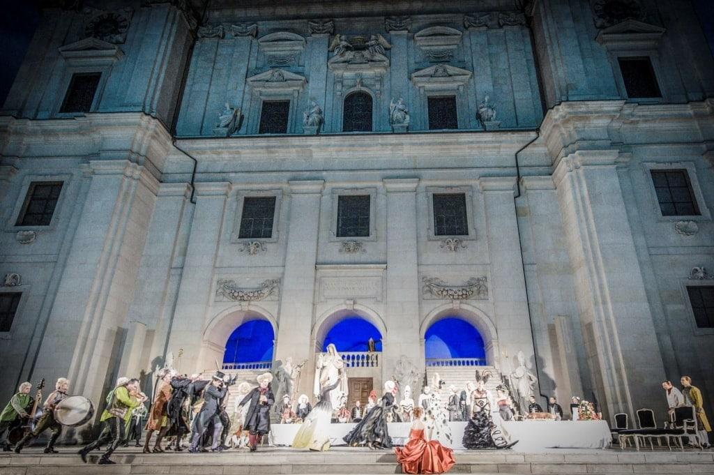 Jedermann-Aufführung während der Salzburger Festspiele