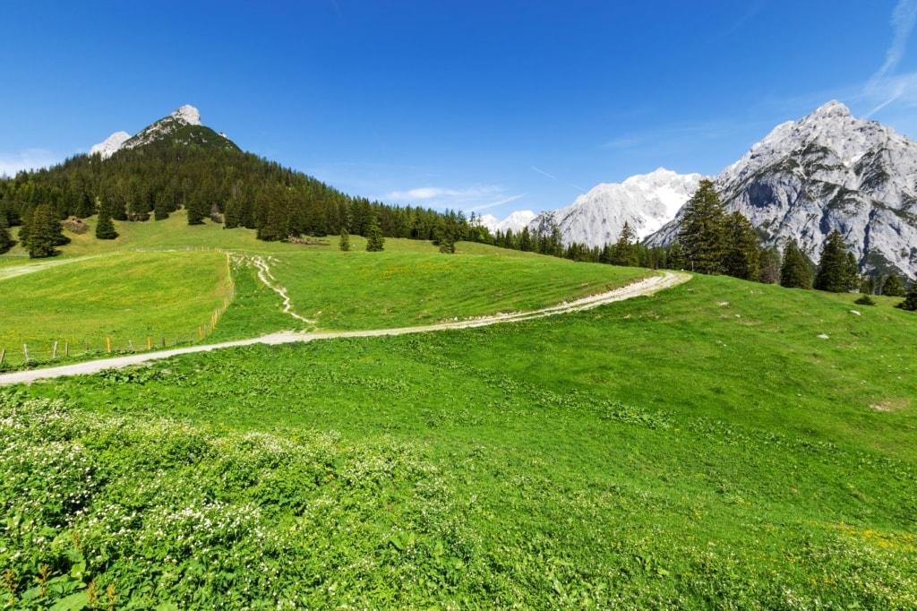 Wanderweg in Gnadental in Tirol