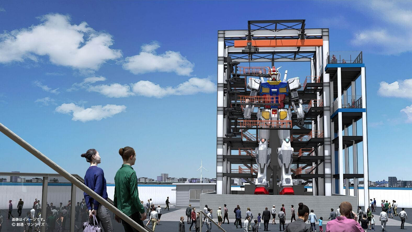 Riesenroboter der Gundam Factory Yokohama