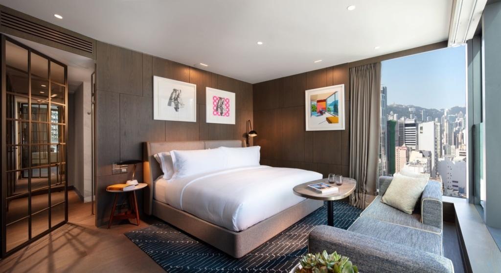Zimmer mit Ausblick im Hari Hotel Hongkong