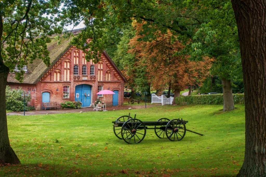 Landhaus mit Garten im Künstlerdorf Worpswede
