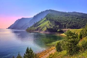 Landschaft am Ufer des Baikalsees