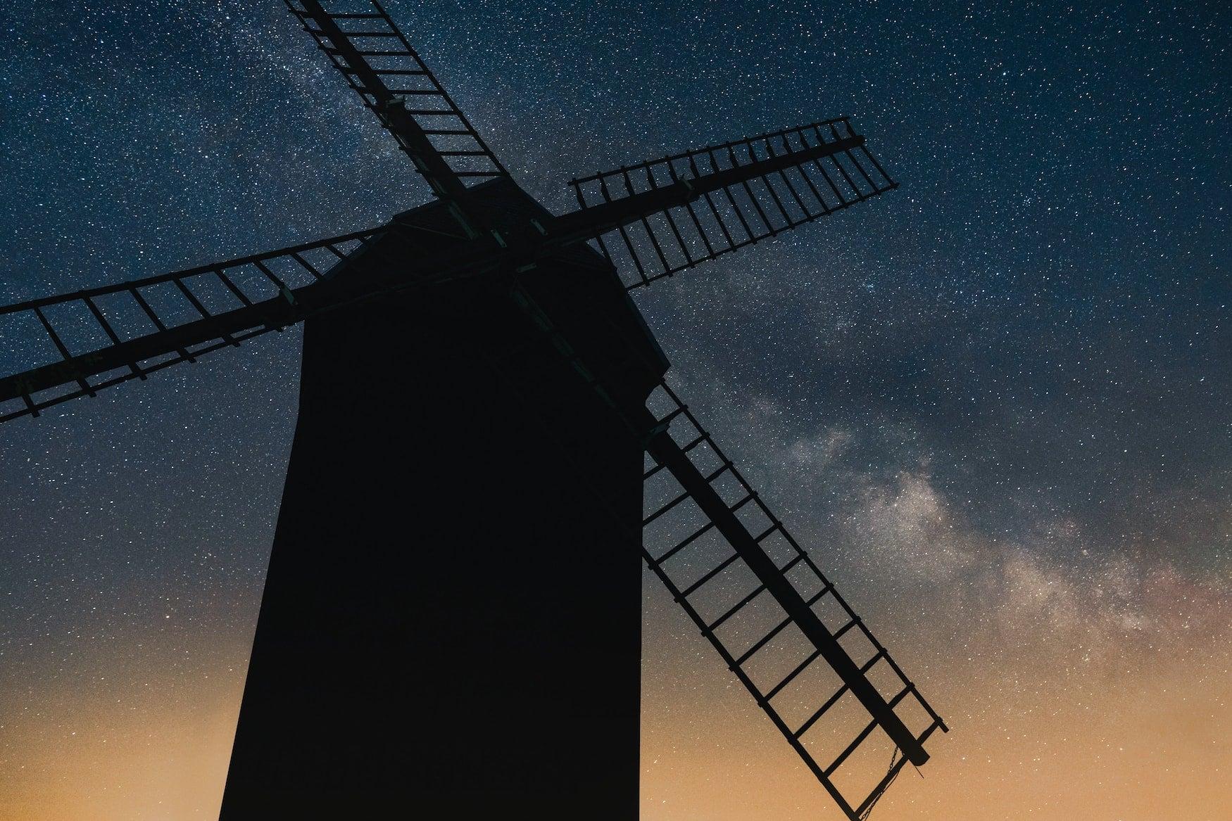 Milchstraße vor Windmühle im Wetshavelland