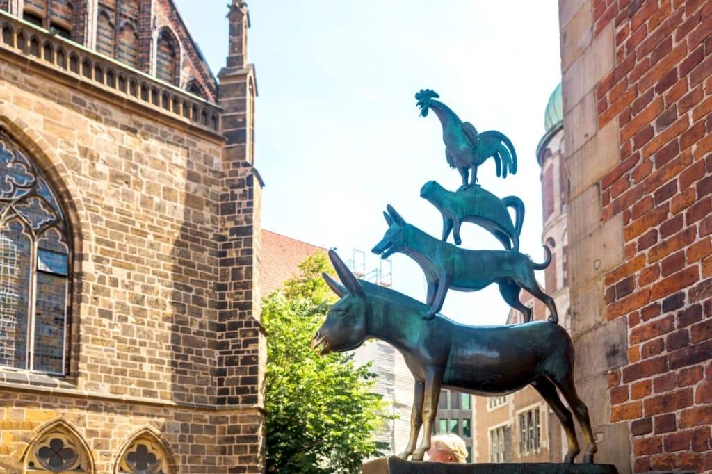Statue der Bremer Stadtmusikanten