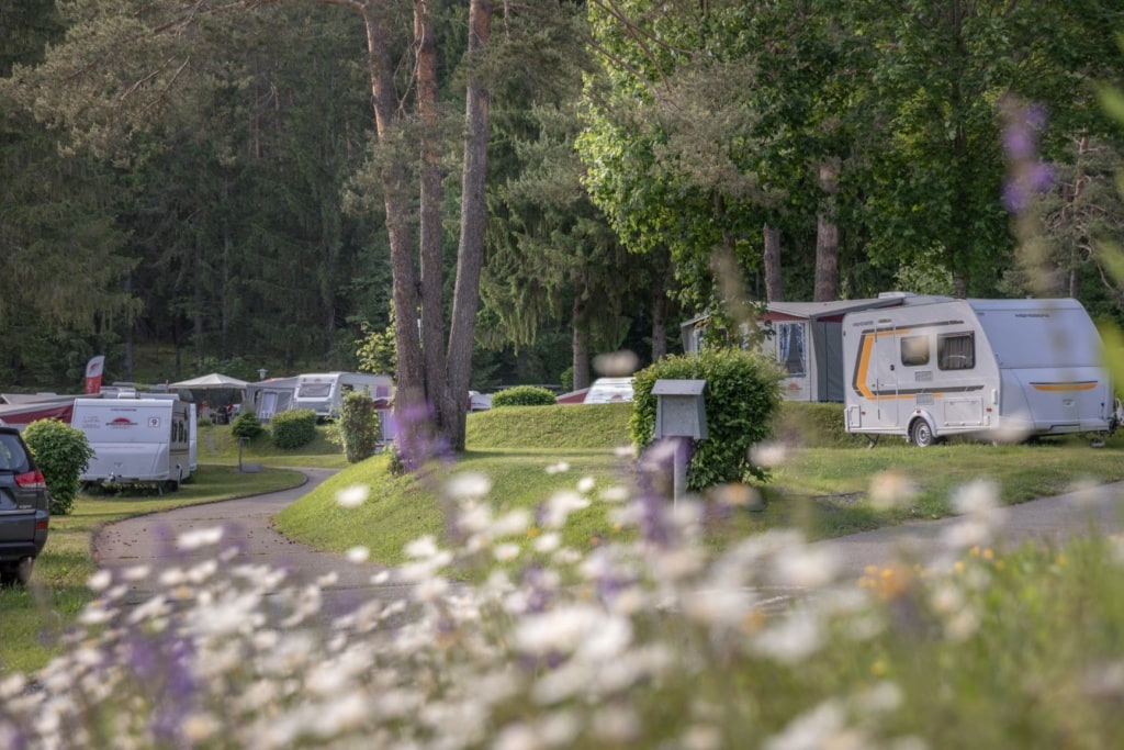 Stellplätze im Naturpark Schluga-Seecamping