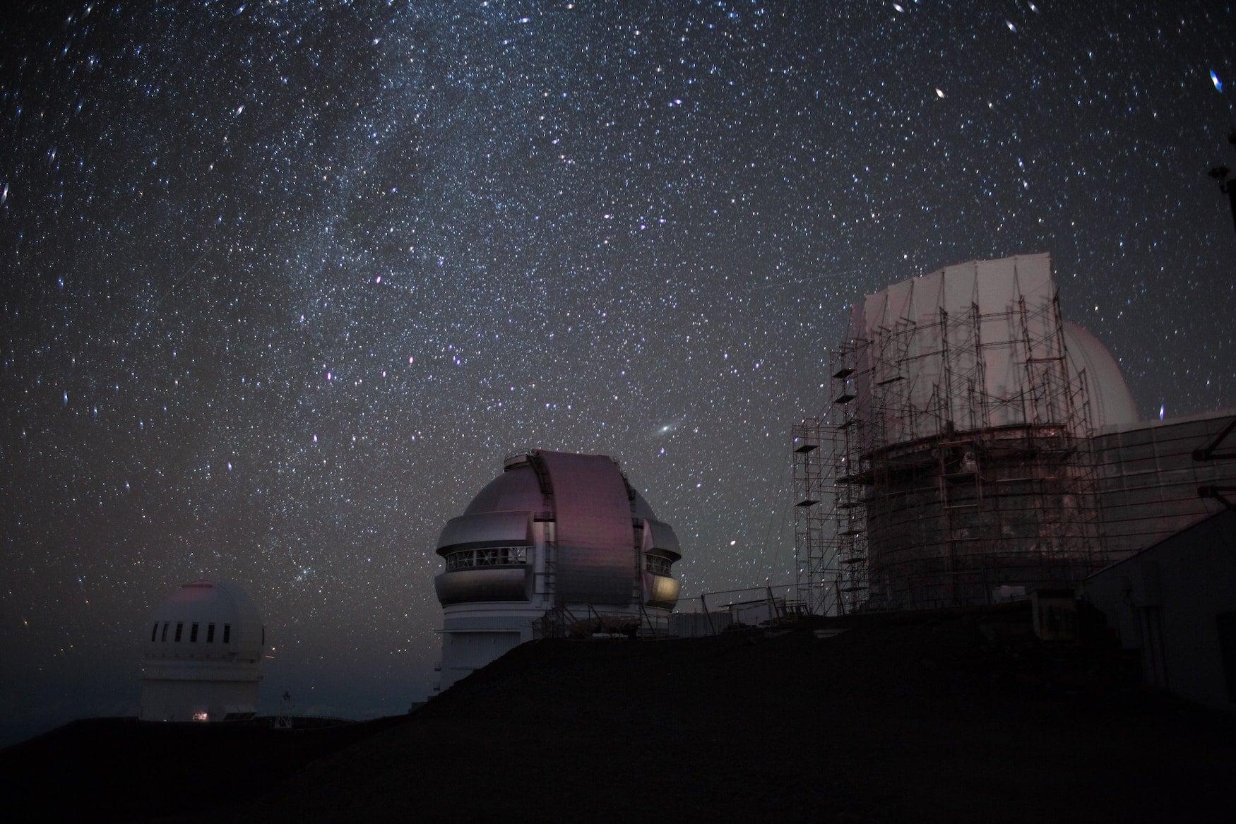 Sternbeobachtung auf dem Mauna Kea auf Hawaii