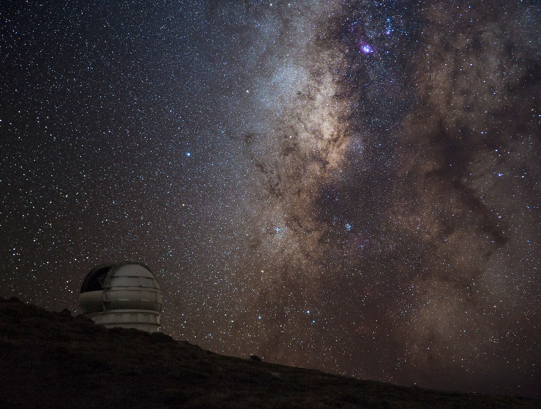 Sternenhimmel auf La Palma vom Roque de los Muchachos