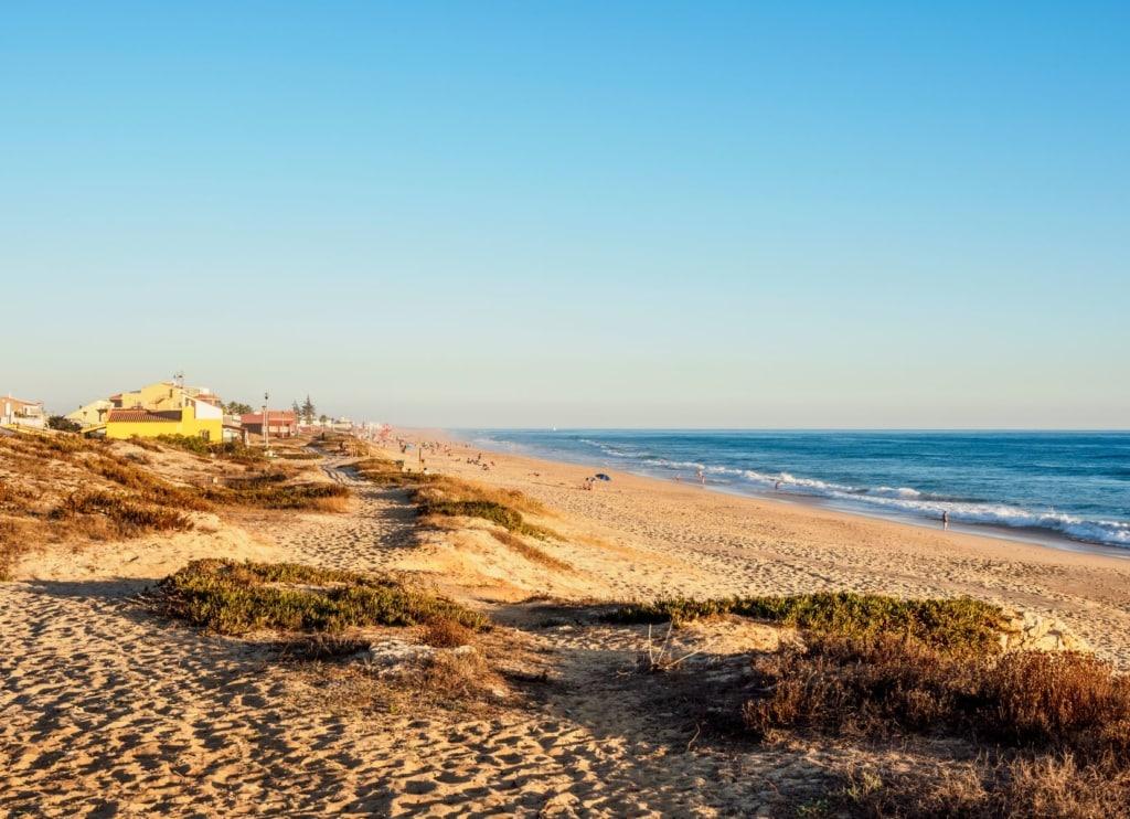 Strand auf der Ilha de Faro an der Algarve