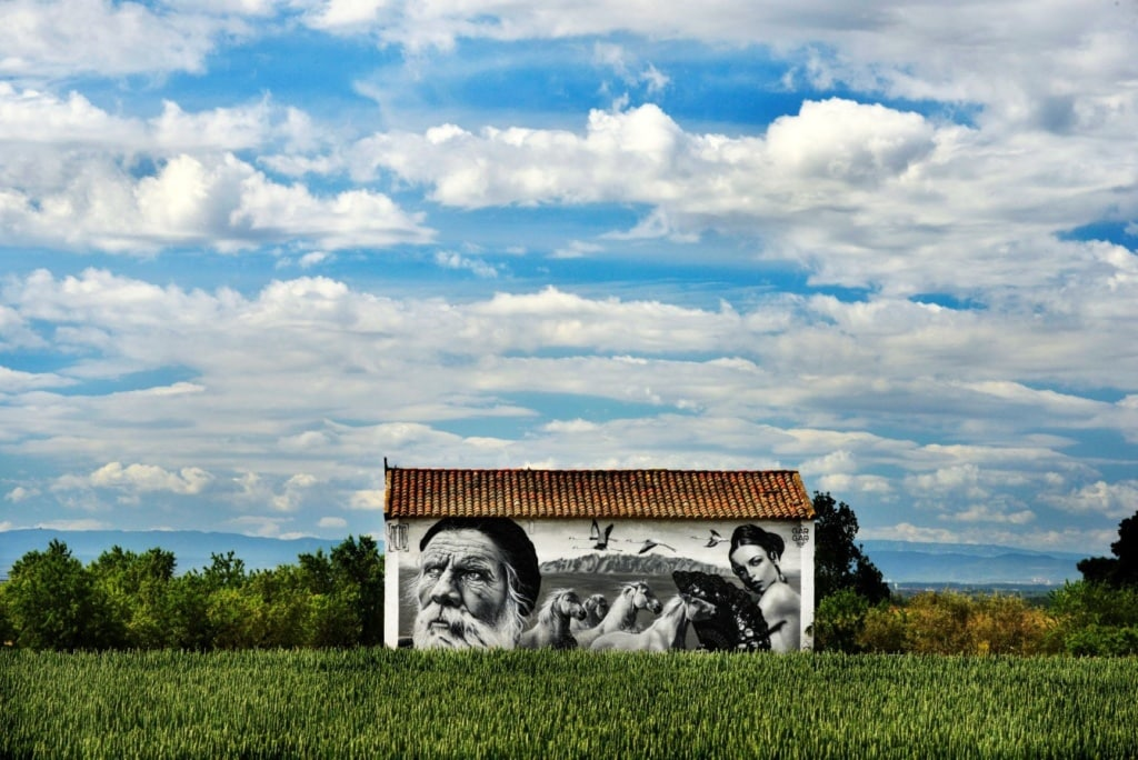 Street Art in Penelles, Katalonien
