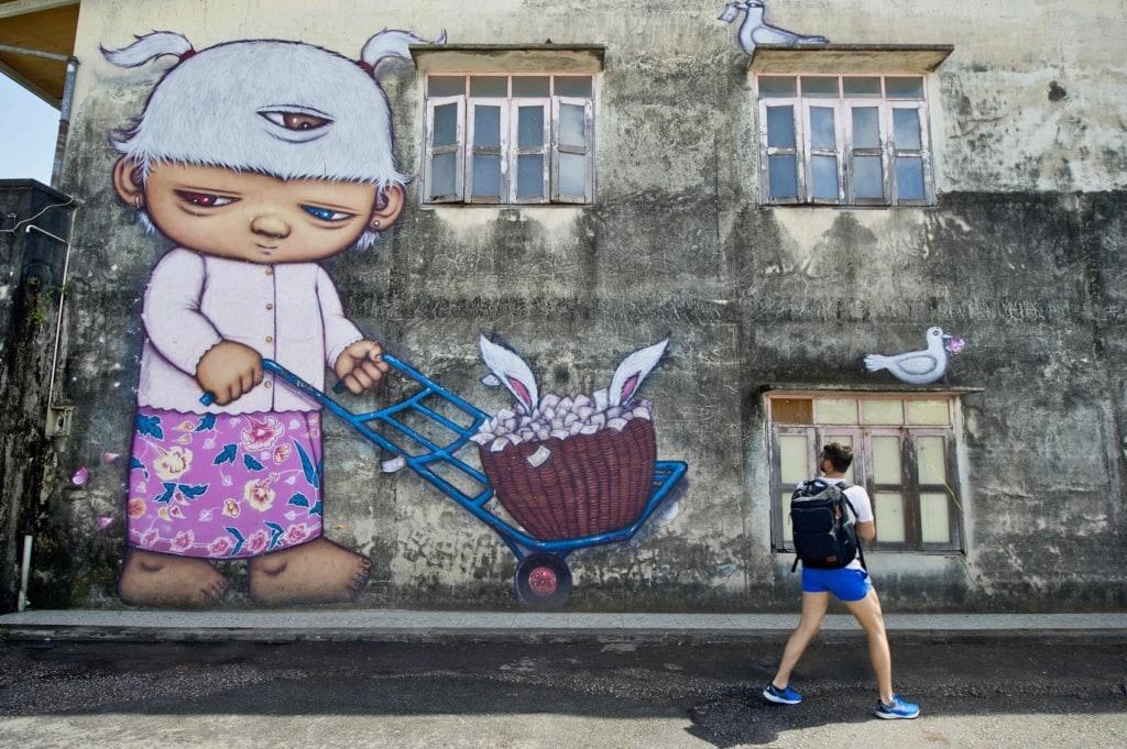 In Phuket findet sich tolle Streetart.