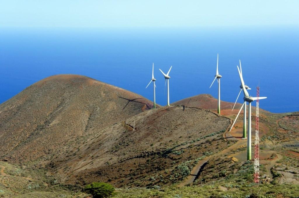 Windkrafträder auf El Hierro
