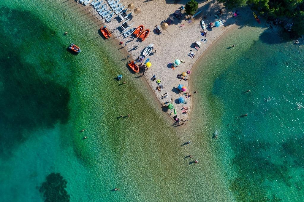 einer der schönsten Strände Griechenlands bella Vraka