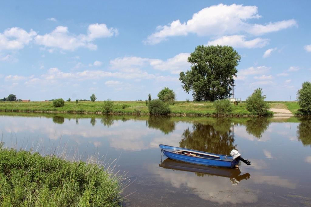 Boot in der Weser
