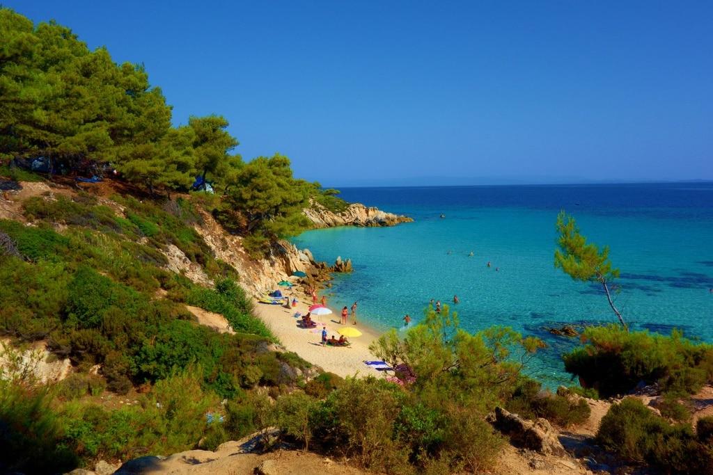 Bucht Chalkidiki Griechenland