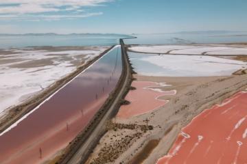 Great Salt Lake in Utah, USA