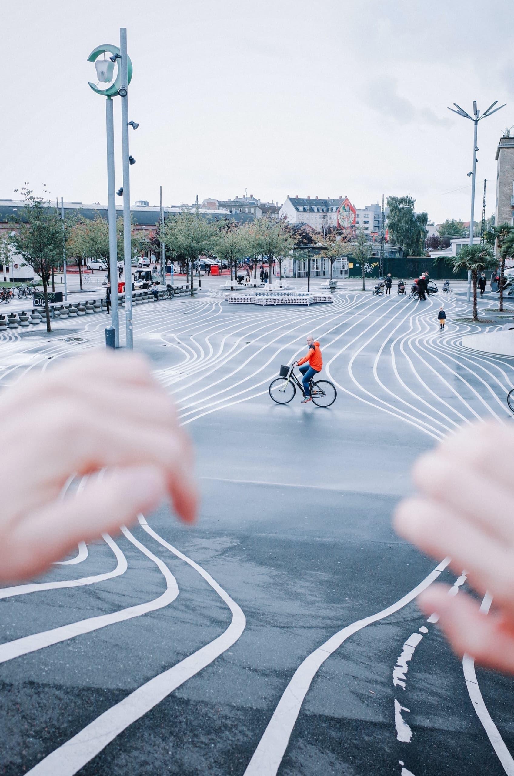 Fahrradfahren in Kopenhagen, einer der nachhaltigsten Städte in Europa