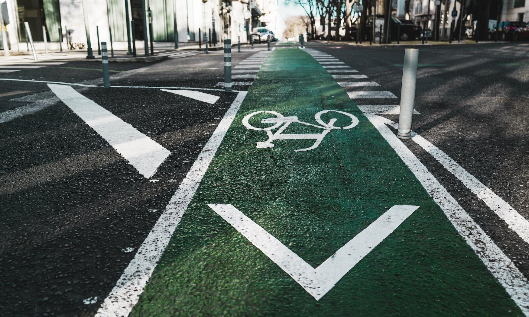 Fahrradweg in Lissabon