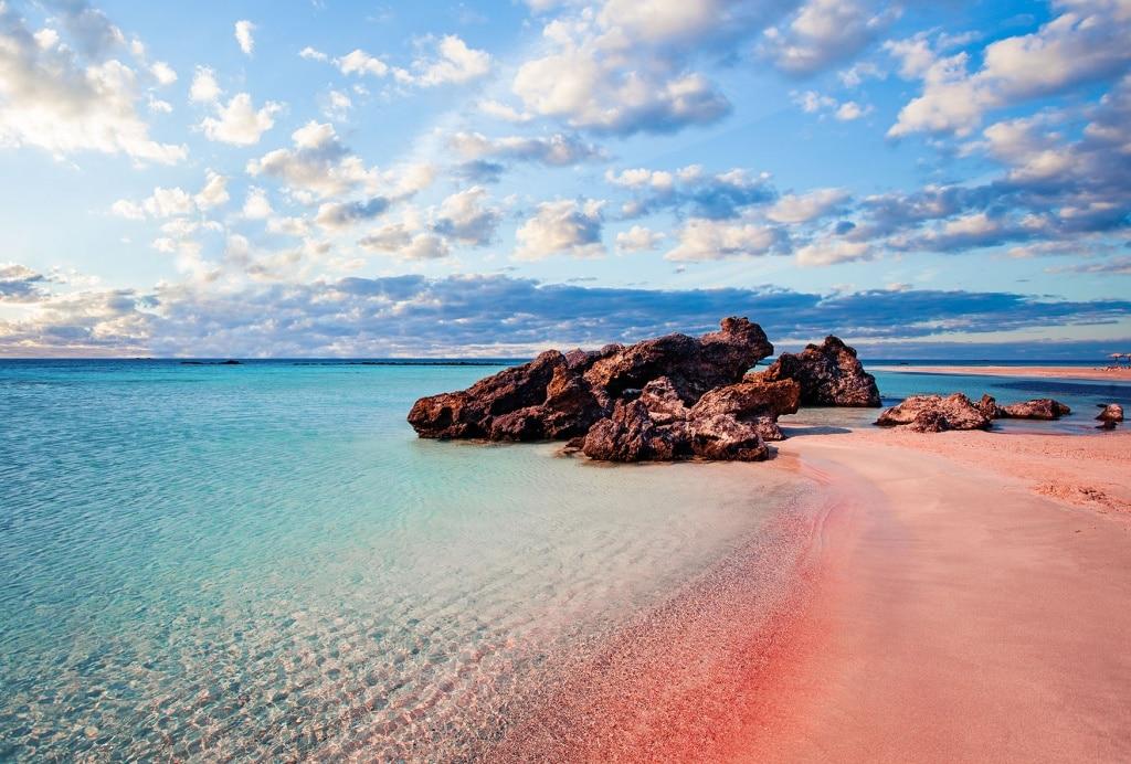 Rosa Strand auf Kreta