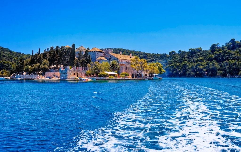 Insel Mljet mit Bendiktinerkloster in Kroatien