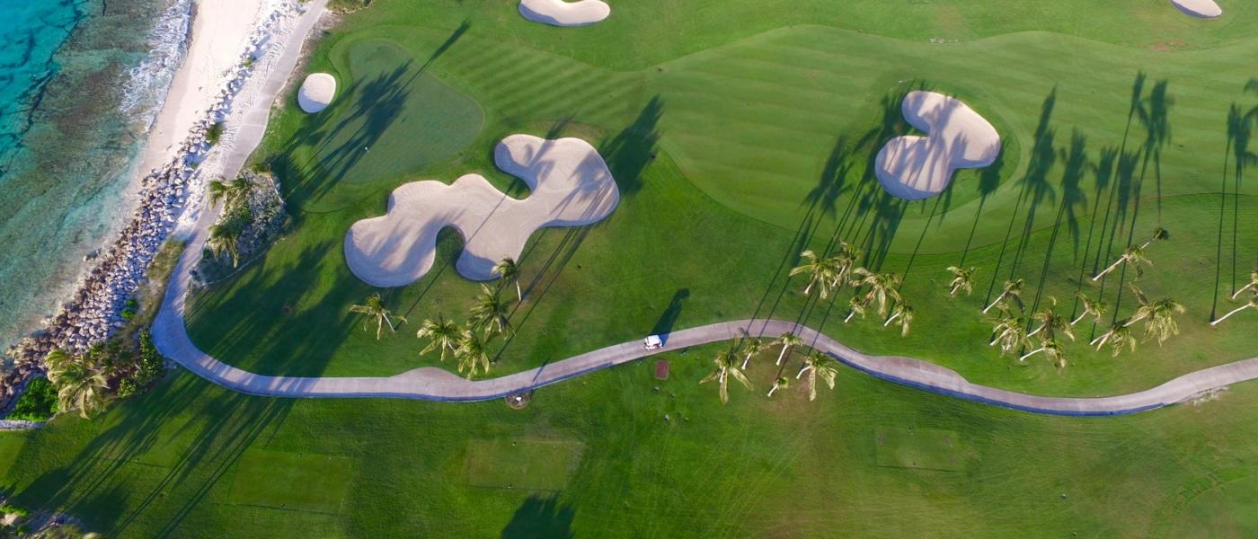 Golfplatz in der Karibik
