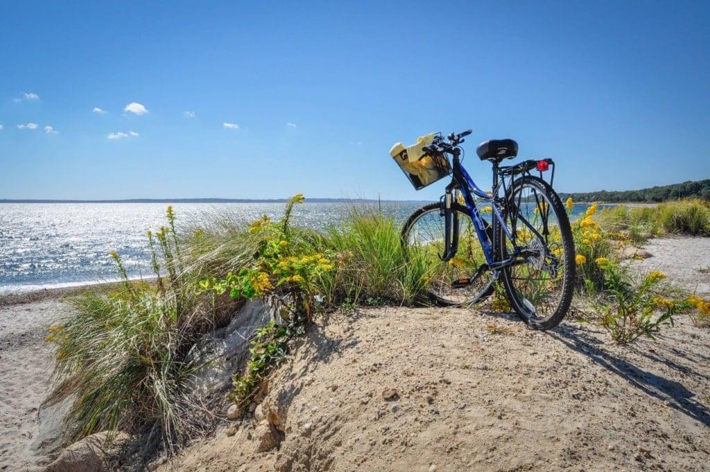Fahrrad am Strand auf Cap Cod