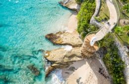Cupecoy Beach auf St. Maarten