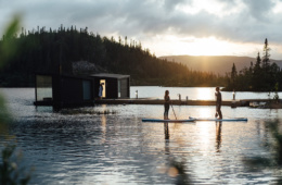 Kaust Floating Sauna in Telemark, Norwegen