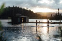 Kaust Floating Sauna in Telemark, Norwegen