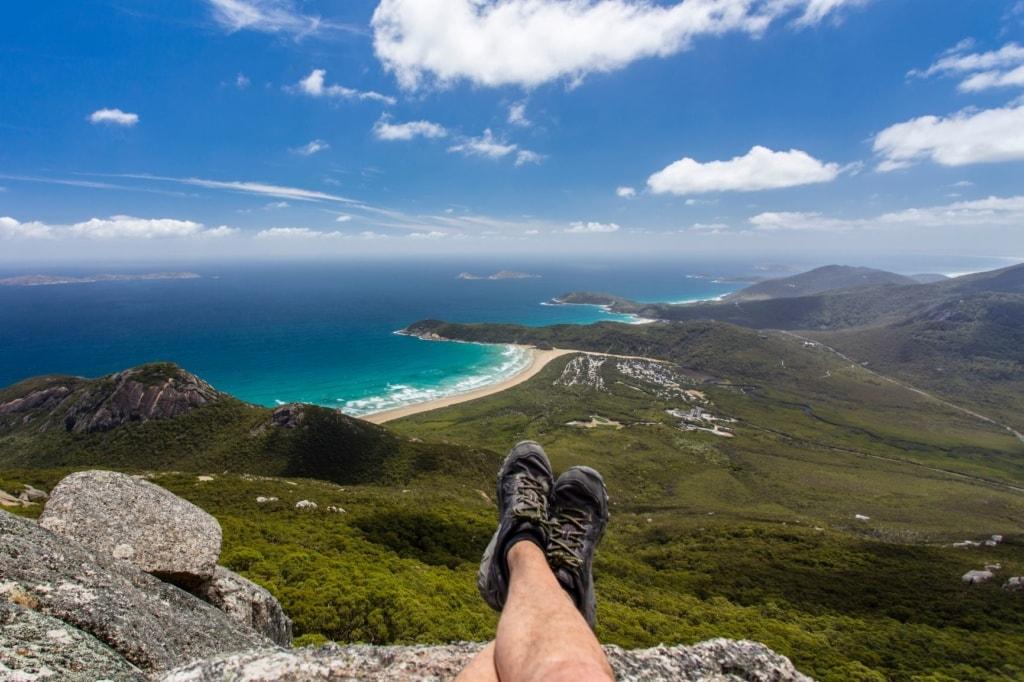 Ausblick vom Mount Oberon in Victoria, Australien