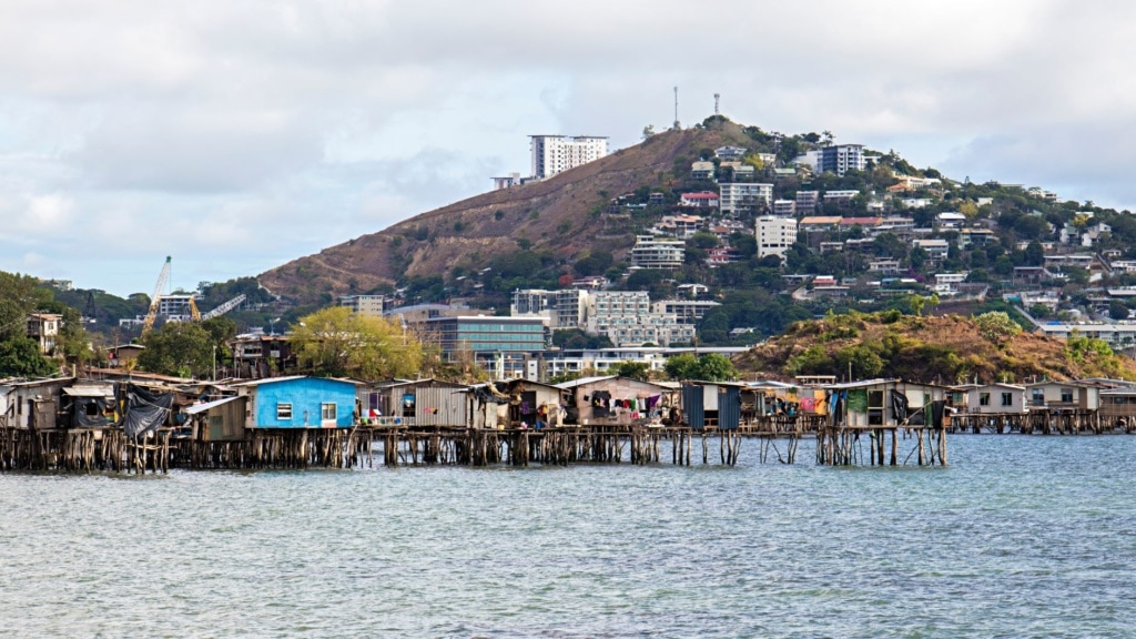 Blick auf Port Moresby