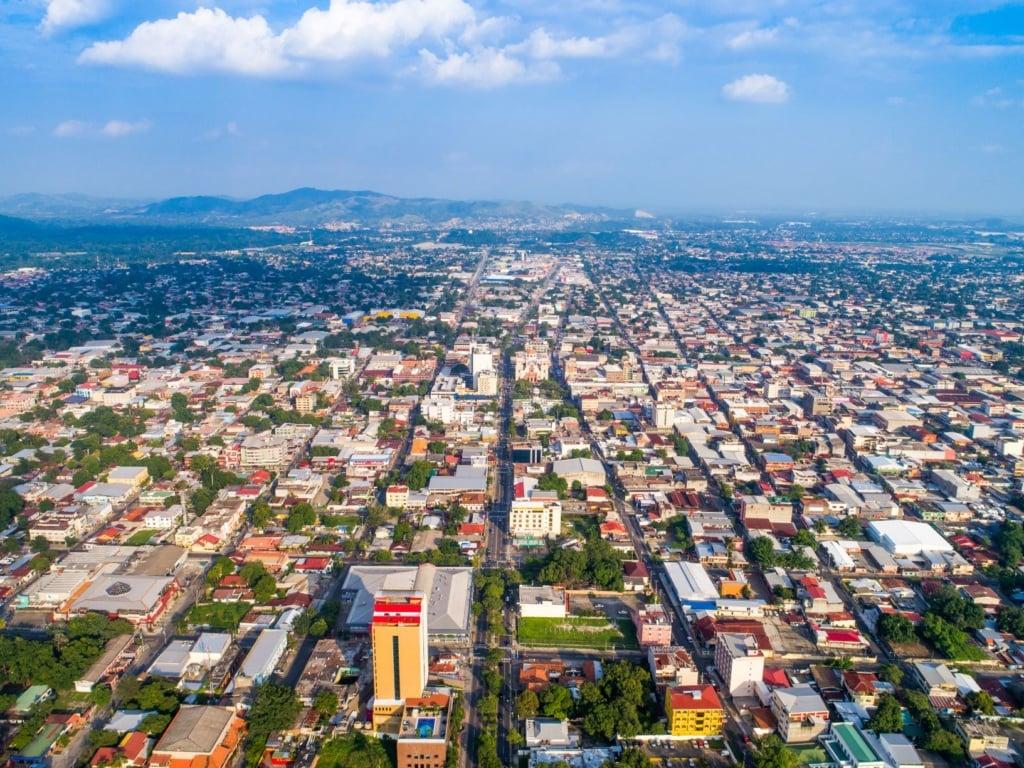 San Pedro Sula in Honduras aus der Vogelperspektive